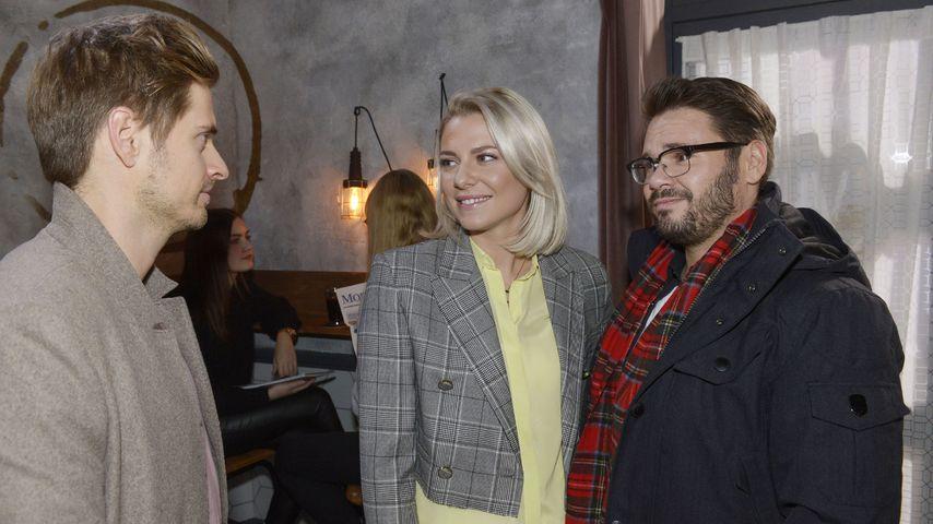 Philip (Jörn Schlönvoigt), Sunny (Valentina Pahde) und Tuner (Thomas Drechsel)