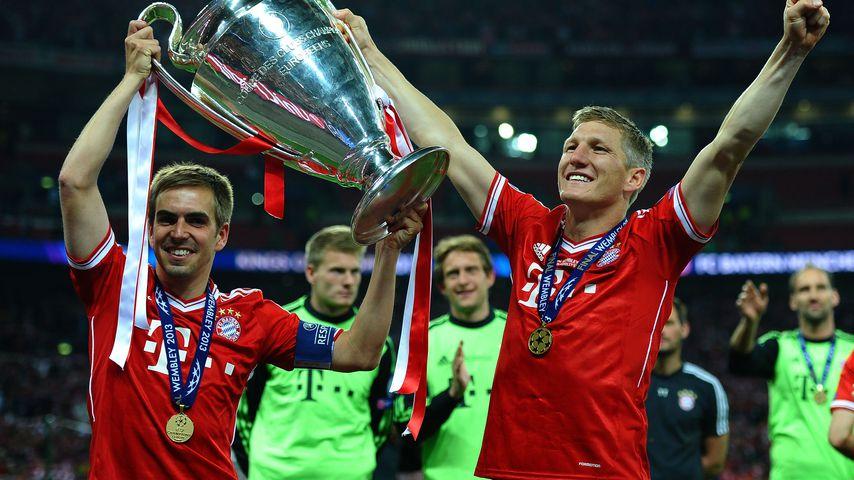 Philipp Lahm und Bastian Schweinsteiger beim Champions League-Finale in London 2013