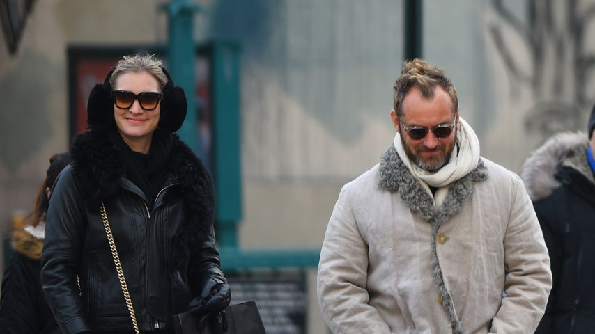 Phillipa Coan und Jude Law in New York