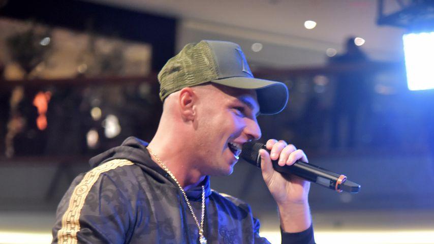 Pietro Lombardi bei einem Auftritt in einem Einkaufszentrum