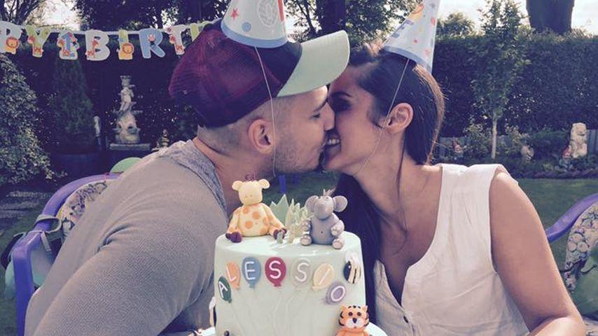 Alessio Lombardis 1. Geburtstag: Riesen-Torte für Mini-Mann