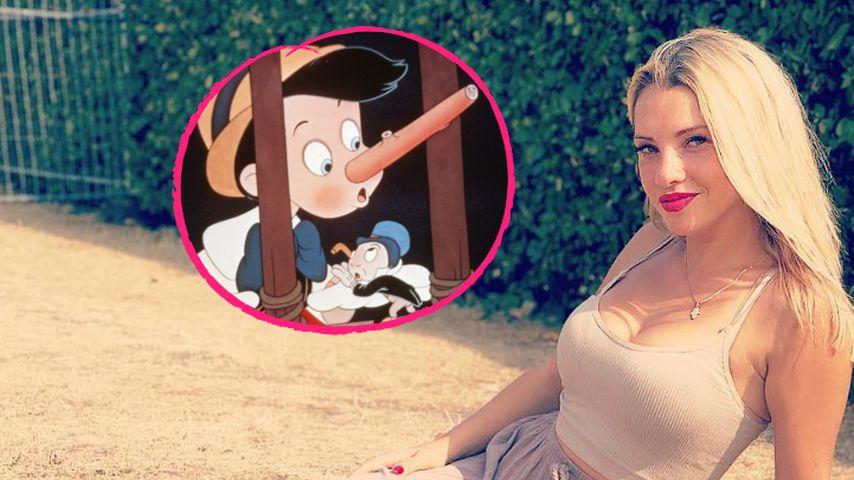 Mit Pinocchio-Post: Spielt Evelyn hier etwa auf Domenico an?