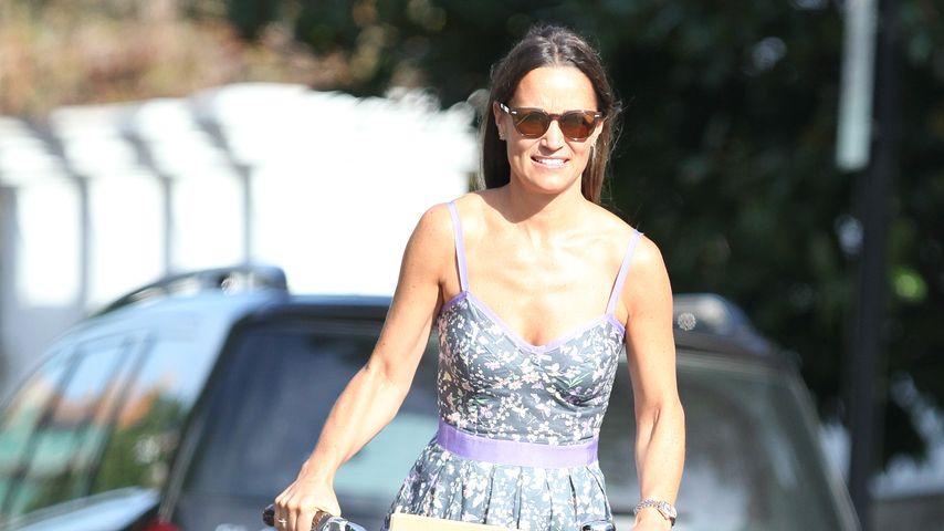 Pippa Middleton fährt Fahrrad