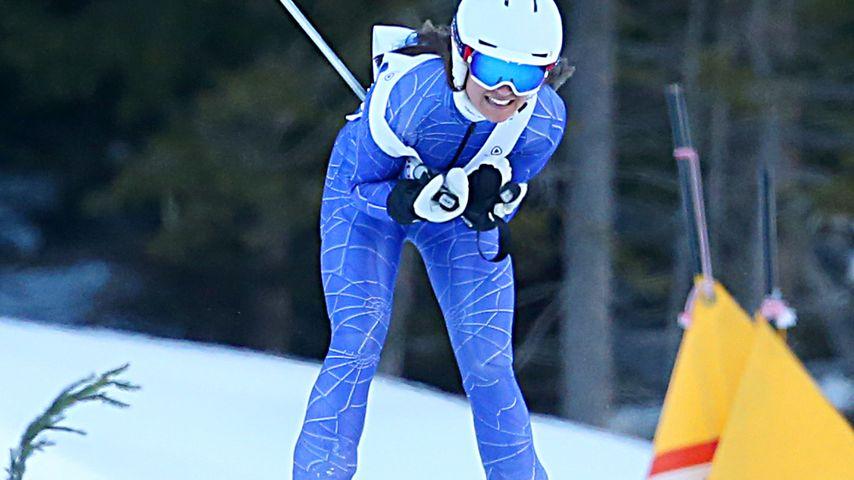 Auf der Piste: Pippa Middleton glänzt beim Ski-Rennen