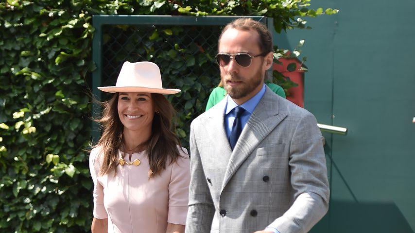 Pippa Middleton und ihr Bruder James im Juli 2019 in Wimbledon