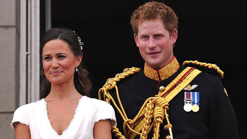 Pippa Middleton und Prinz Harry auf der Hochzeit ihrer Geschwister Kate und William