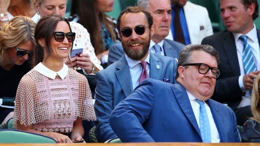 Pippa und James Middelton bei einem Tennisturnier in London, März 2018