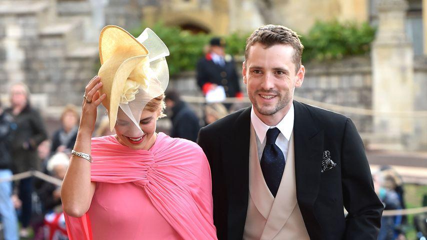 Model Pixie Geldof mit ihrem Mann George