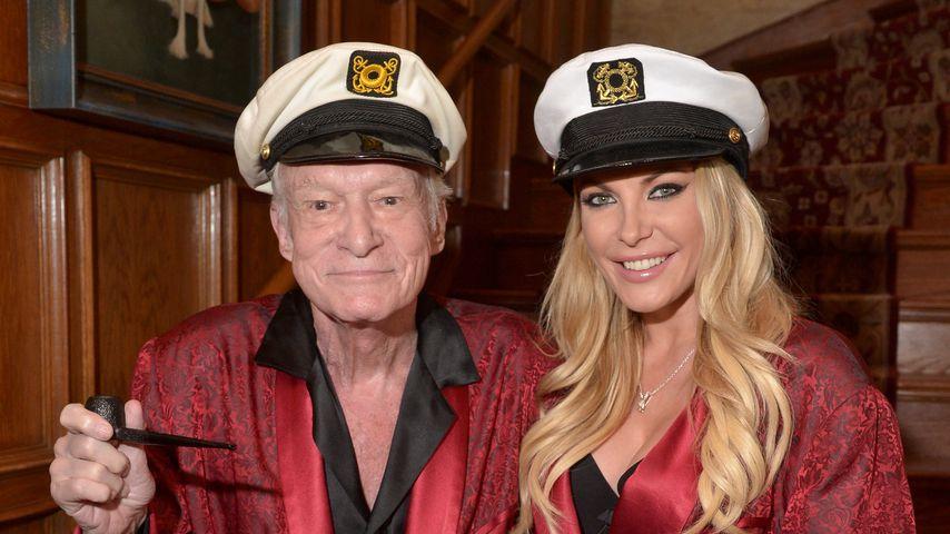 Playboy-Gründer Hugh Hefner und Crystal Harris