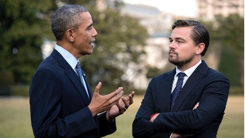 Präsident Obama und Leo DiCaprio