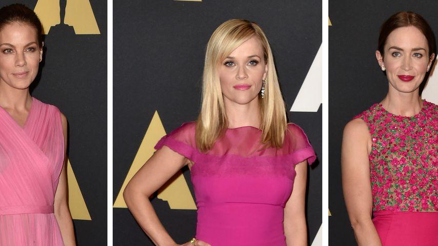 Farb-Flash: Hollywood-Stars setzen jetzt auf Pink