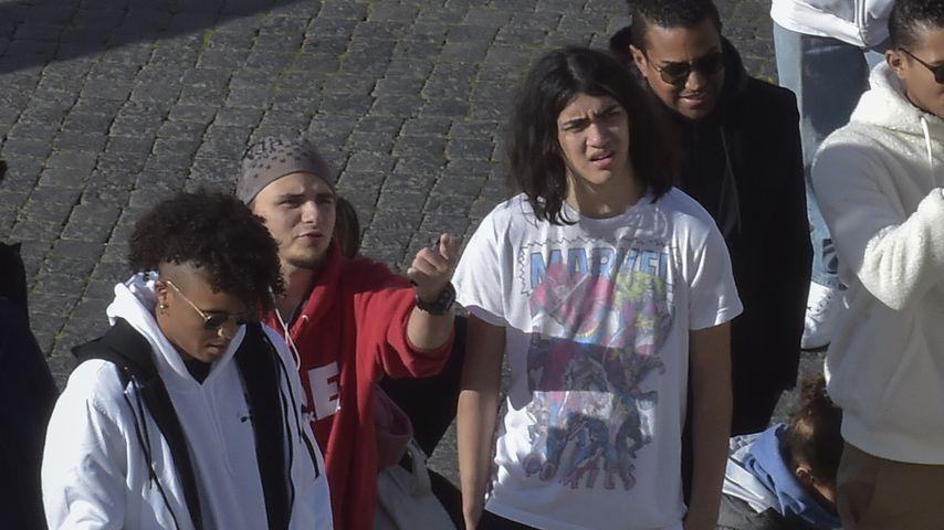 Prince und Blanket Jackson sowie einige Freunde in Rom