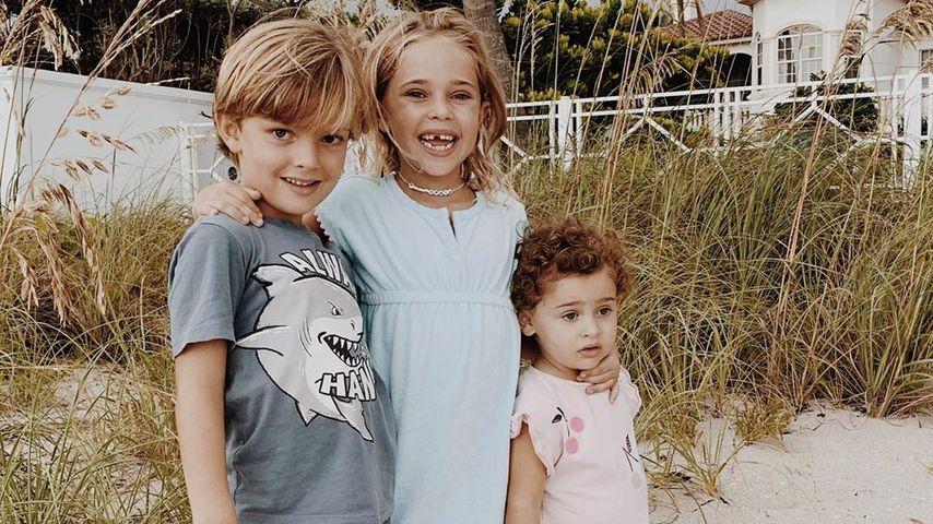 Prinz Nicolas, Prinzessin Leonore und Prinzessin Adrienne von Schweden im Juli 2020