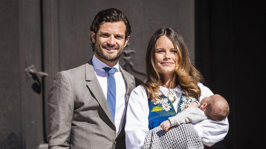 Prinz Carl Philip und Sofia mit ihrem Sohn Alexander, 2016