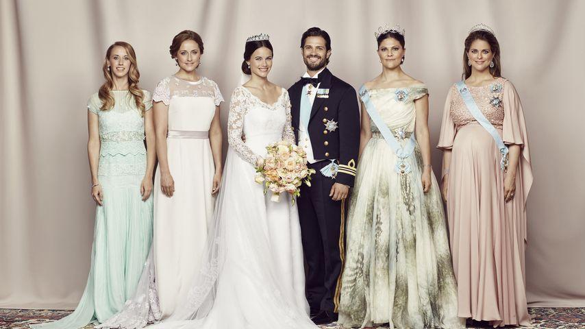 Prinzessin Sofia, Prinz Carl Philip, Prinzessin Victoria und Prinzessin Madeleine von Schweden