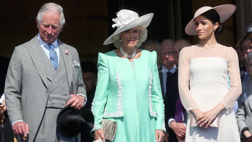 Prinz Charles, Herzogin Camilla und Herzogin Meghan im Mai in London