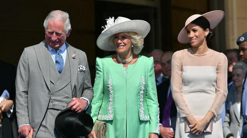 Prinz Charles, Herzogin Camilla und Herzogin Meghan am 22. Mai 2018