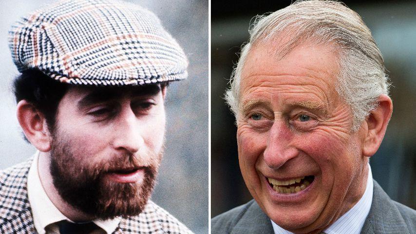Collage: Prinz Charles mit und ohne Bart