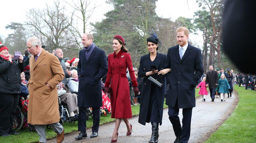 Prinz Charles, Prinz William, Herzogin Kate, Herzogin Meghan und Prinz Harry, 2018
