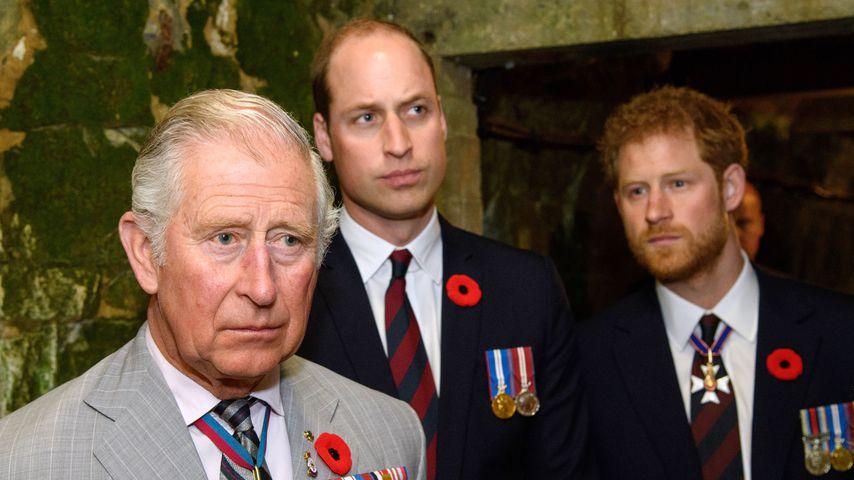 Prinz Charles, Prinz William und Prinz Harry bei einem Besuch in Vimy im April 2017