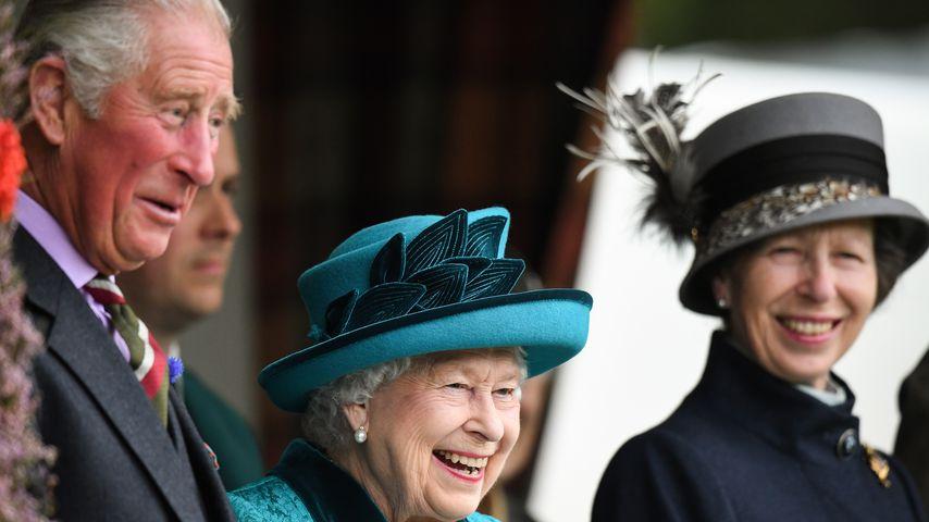 Prinz Charles, Queen Elizabeth II. und Prinzessin Anne im September 2018