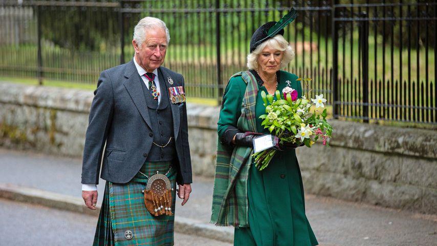 Prinz Charles und Camilla in Crathie im Mai 2020