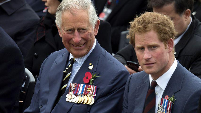 Prinz Charles und Prinz Harry bei einer Gedenkfeier in der Türkei im April 2015