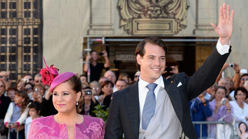 Prinz Félix von Luxemburg und Großherzogin Maria Teresa von Luxemburg 2013 in Frankreich
