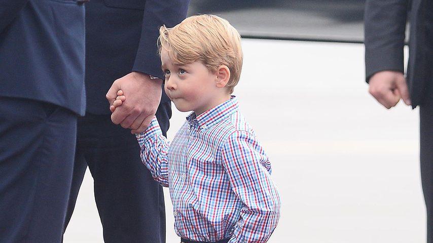 Prinz George am Flughafen in Warschau