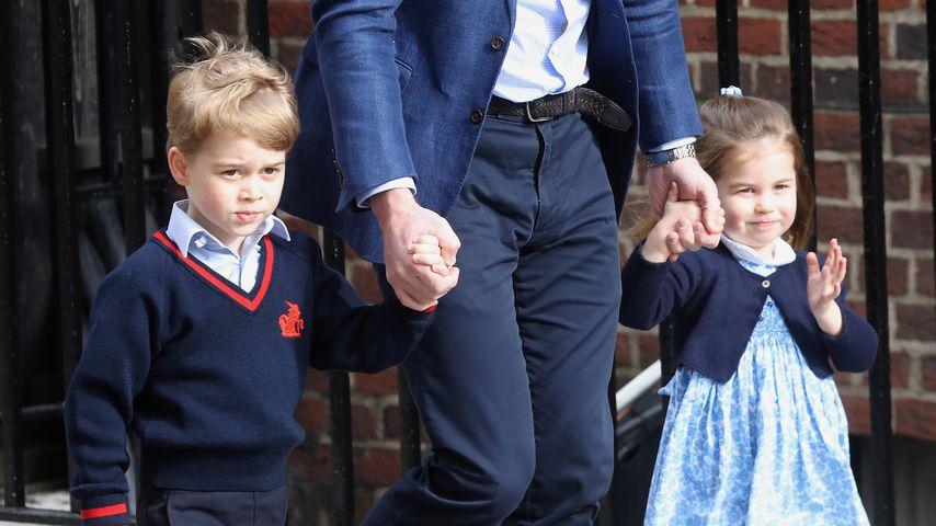Prinz George und Prinzessin Charlotte auf dem Weg zu ihrem Geschwisterchen