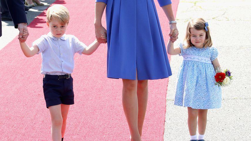 Prinz George und Prinzessin Charlotte in Berlin im Jahr 2019