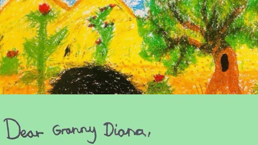 Prinz Georges Muttertagskarte für Prinzessin Diana