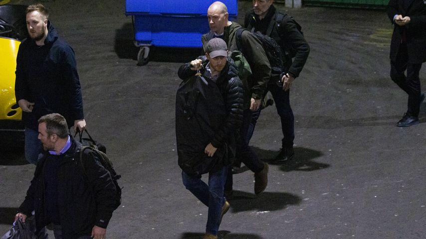 Prinz Harry bei der Ankunft am Bahnhof in Edinburgh