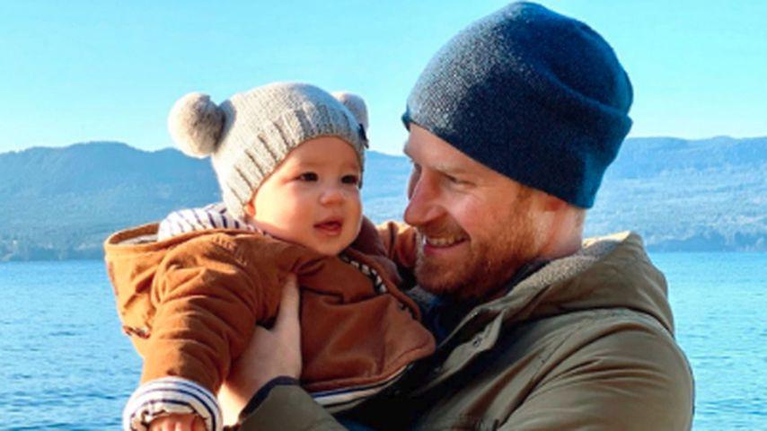 Archie Harrison und sein Vater Prinz Harry