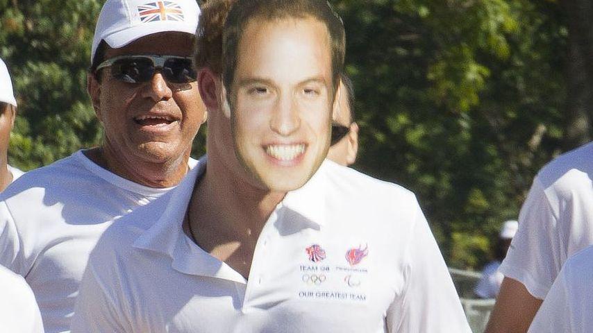Lustiges Foto: Prinz Harry als grinsender William