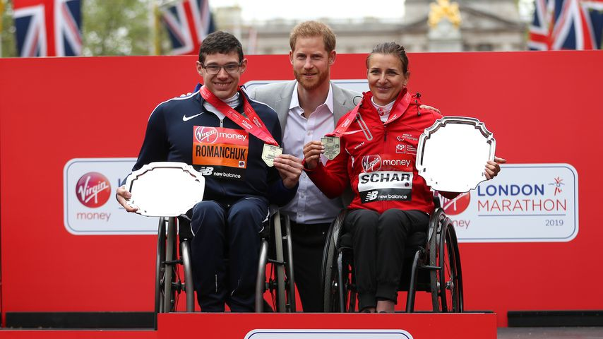 Prinz Harry beim London Marathon 2019
