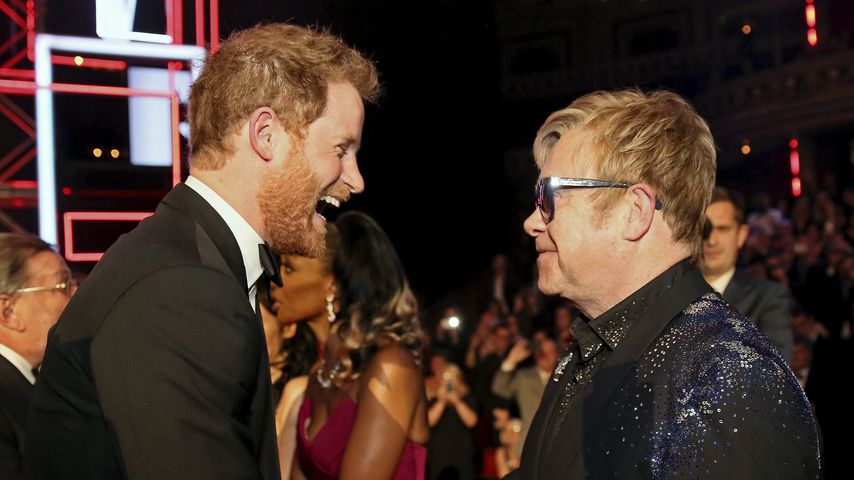 Prinz Harry und Elton John in der Royal Albert Hall in London