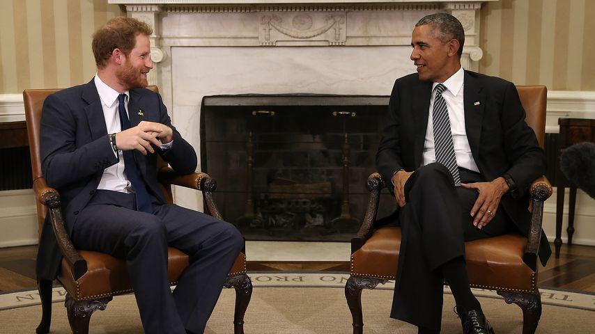 Prinz Harry und Barack Obama im Weißen Haus
