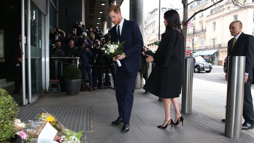 Prinz Harry und Herzogin Meghan am New Zealand House in London