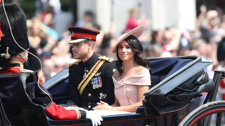 "Prinz Harry und Herzogin Meghan bei der ""Trooping the colour""-Parade 2018"