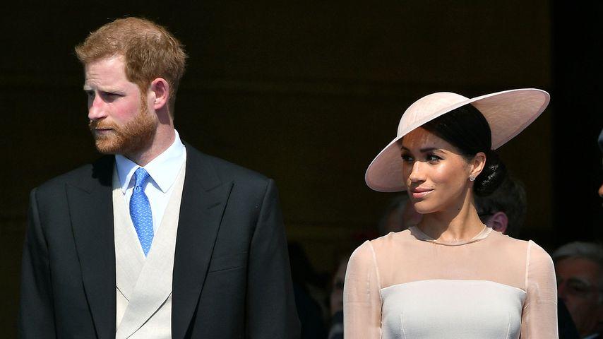 Erster Auftritt nach Hochzeit: So strahlen Harry & Meghan!