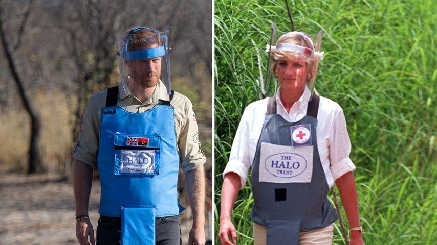 Wie Mama Diana: Prinz Harry setzt sich gegen Landminen ein