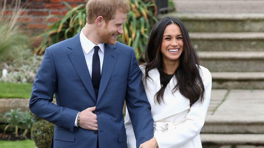 Prinz Harry und Meghan Markle bei der Verkündung ihrer Verlobung