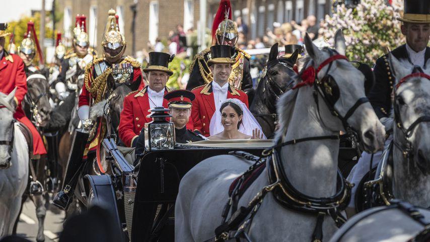 Prinz Harry und Meghan Markle bei ihrer Hochzeit im Mai 2018