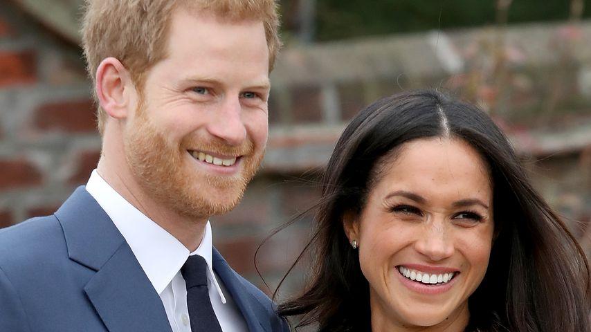 Prinz Harry und Meghan Markle bei der Verkündung ihrer Verlobung 2017