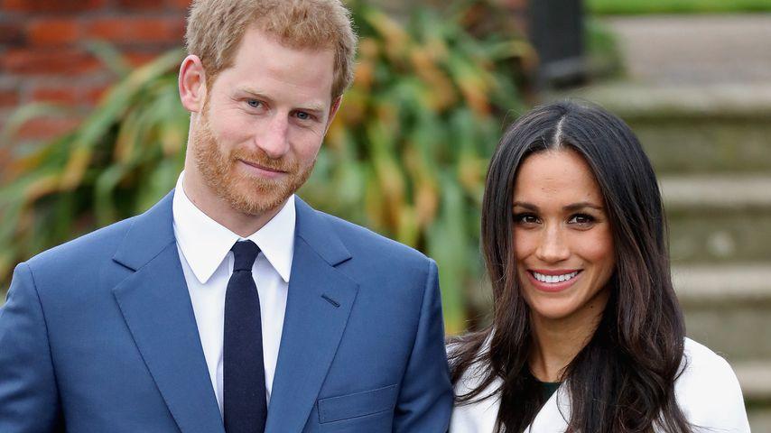 Prinz Harry und Meghan Markle in den Sunken Gardens