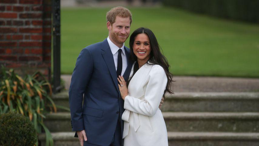 Prinz Harry und Meghan Markle bei ihrem Verlobungs