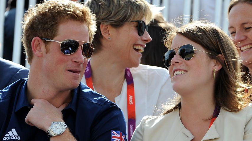 Prinz Harry und Prinzessin Eugenie 2012 in London