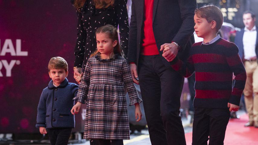 Prinz Louis, Prinzessin Charlotte und Prinz George im Dezember 2020 in London