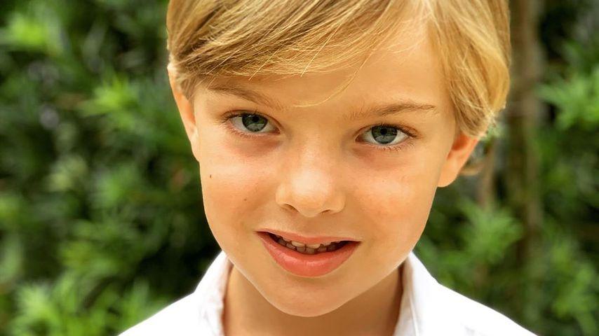 Niedliches Bild von Prinz Nicolas zum fünften Geburtstag